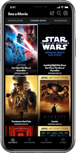 AMC Theatres iOS Screenshot 1